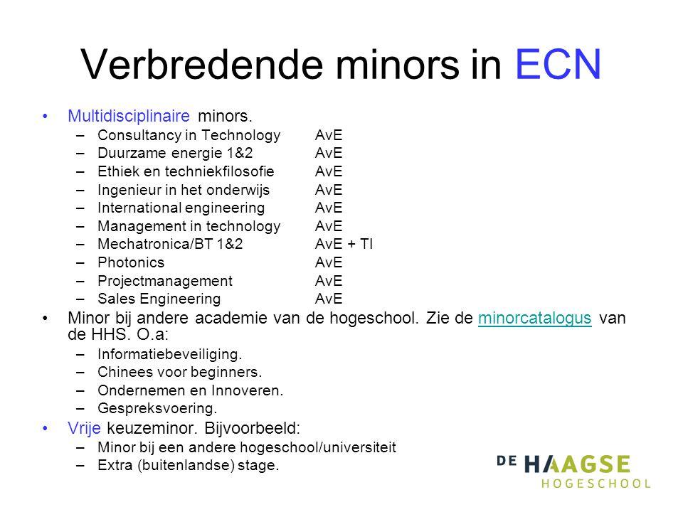 Verbredende minors in ECN Multidisciplinaire minors.