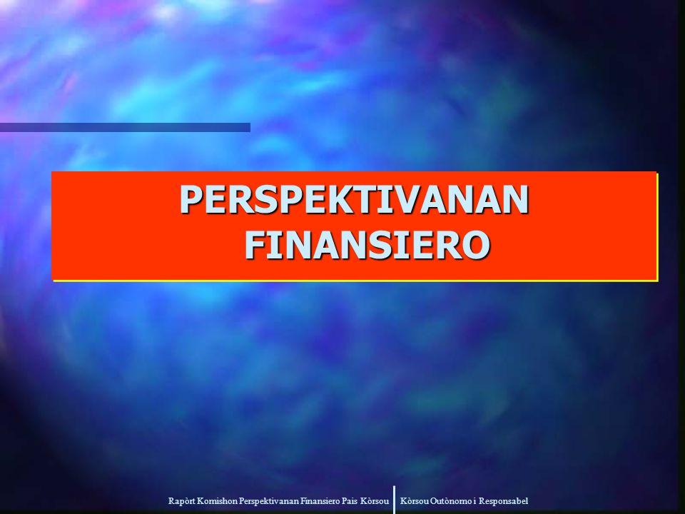 Rapòrt Komishon Perspektivanan Finansiero Pais Kòrsou Kòrsou Outònomo i Responsabel PERSPEKTIVANAN FINANSIERO