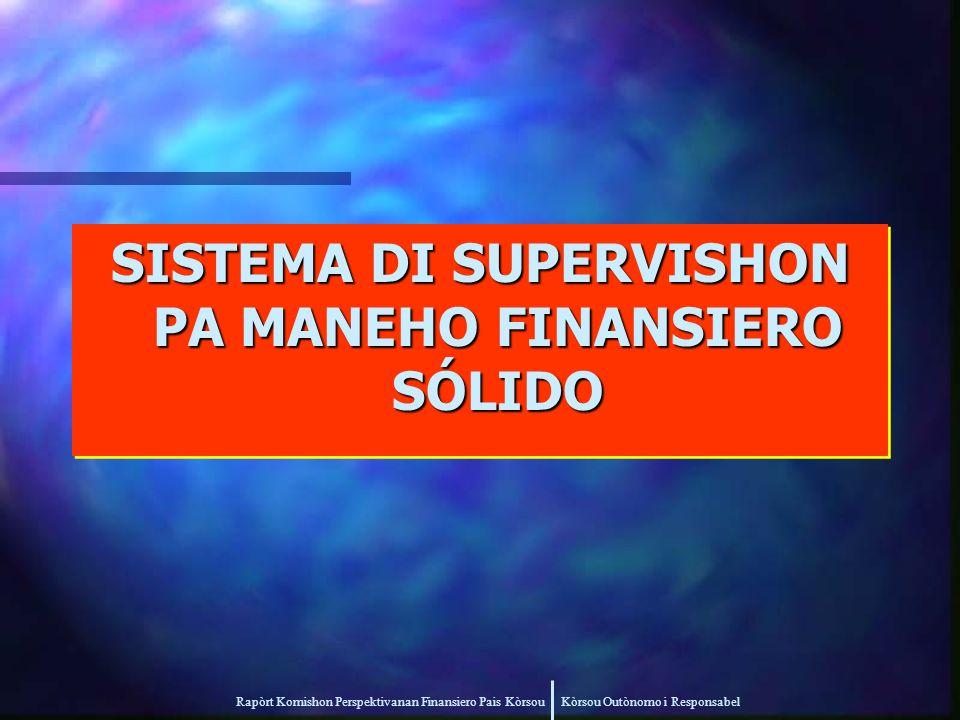Rapòrt Komishon Perspektivanan Finansiero Pais Kòrsou Kòrsou Outònomo i Responsabel SISTEMA DI SUPERVISHON PA MANEHO FINANSIERO SÓLIDO