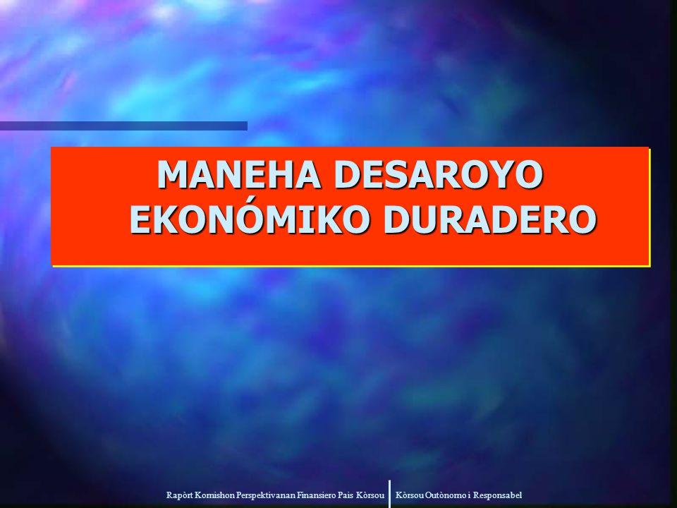 Rapòrt Komishon Perspektivanan Finansiero Pais Kòrsou Kòrsou Outònomo i Responsabel MANEHA DESAROYO EKONÓMIKO DURADERO