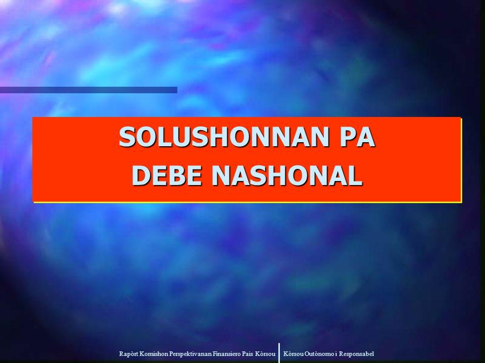 Rapòrt Komishon Perspektivanan Finansiero Pais Kòrsou Kòrsou Outònomo i Responsabel SOLUSHONNAN PA DEBE NASHONAL SOLUSHONNAN PA DEBE NASHONAL
