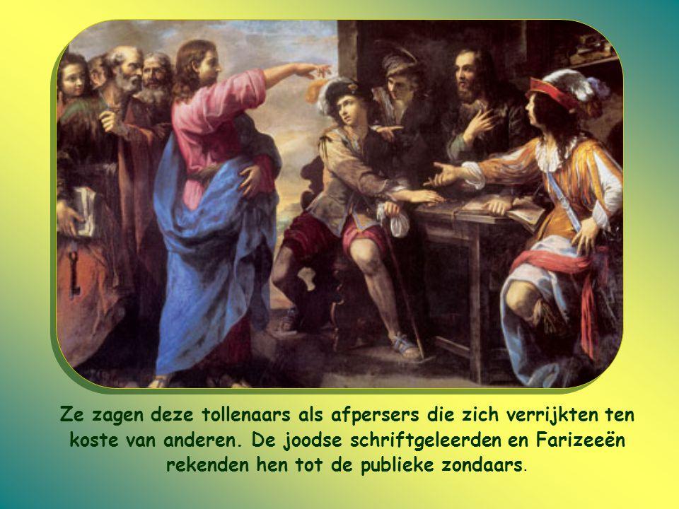 Toen Jezus liet weten bij Matteüs te gast te willen zijn, verweten de schriftgeleerden Jezus dan ook dat Hij een vriend was van tollenaars en zondaars.