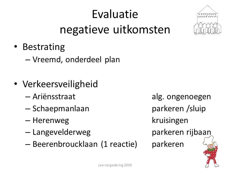 Evaluatie negatieve uitkomsten Bestrating – Vreemd, onderdeel plan Verkeersveiligheid – Ariënsstraatalg.