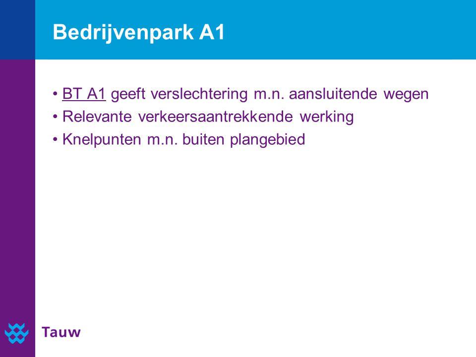 Bedrijvenpark A1 BT A1 geeft verslechtering m.n.