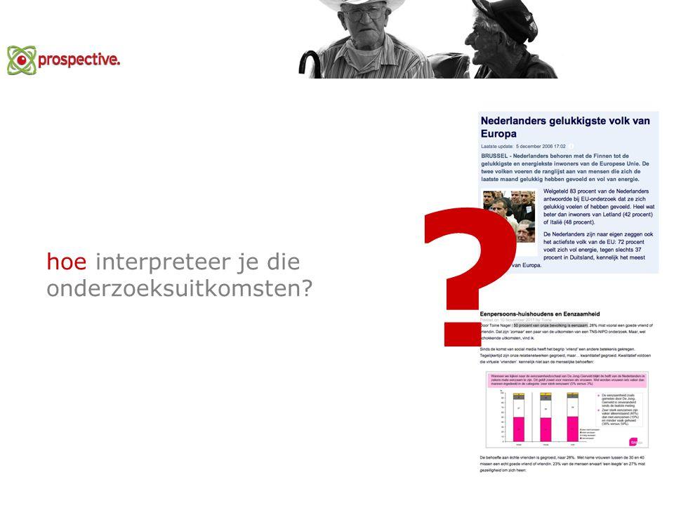 hoe interpreteer je die onderzoeksuitkomsten? ?