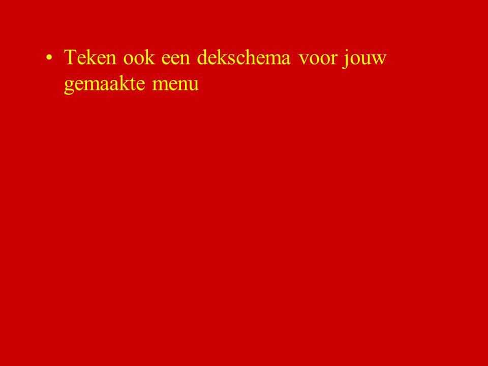 B.M. Dijkman ROC ASA, Amsterdam Maak nu een menu van 6 gangen voor de 1e kerstdag. Je verwacht 60 gasten.