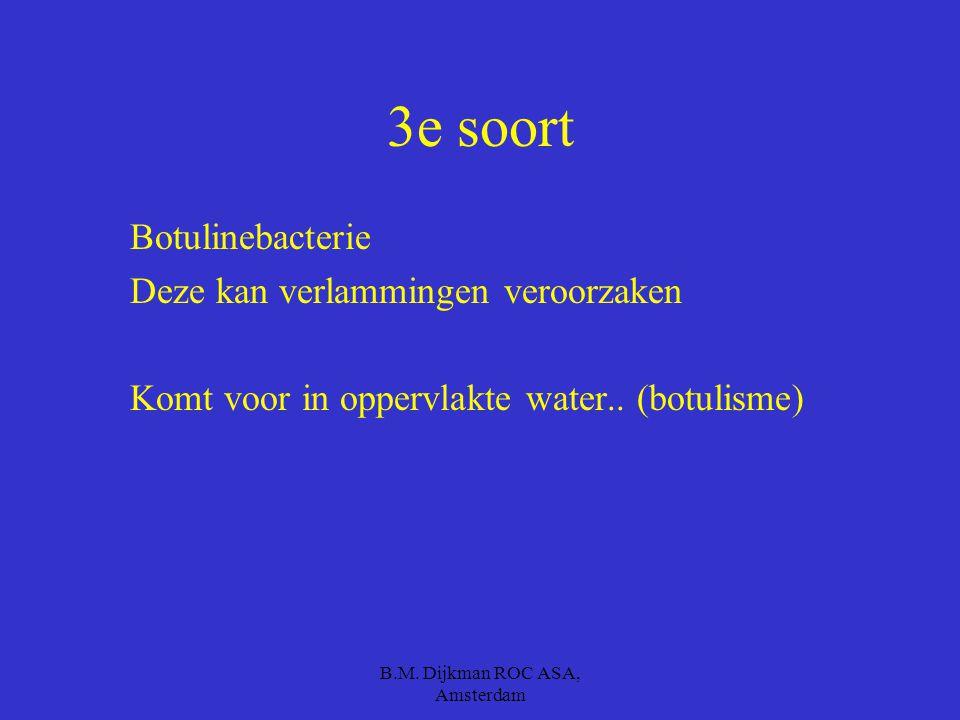 B.M. Dijkman ROC ASA, Amsterdam Zorg dus voor het volgende: Kip moet gaar zijn Geen rauwe eieren !!!! Alleen gaar varkensvlees