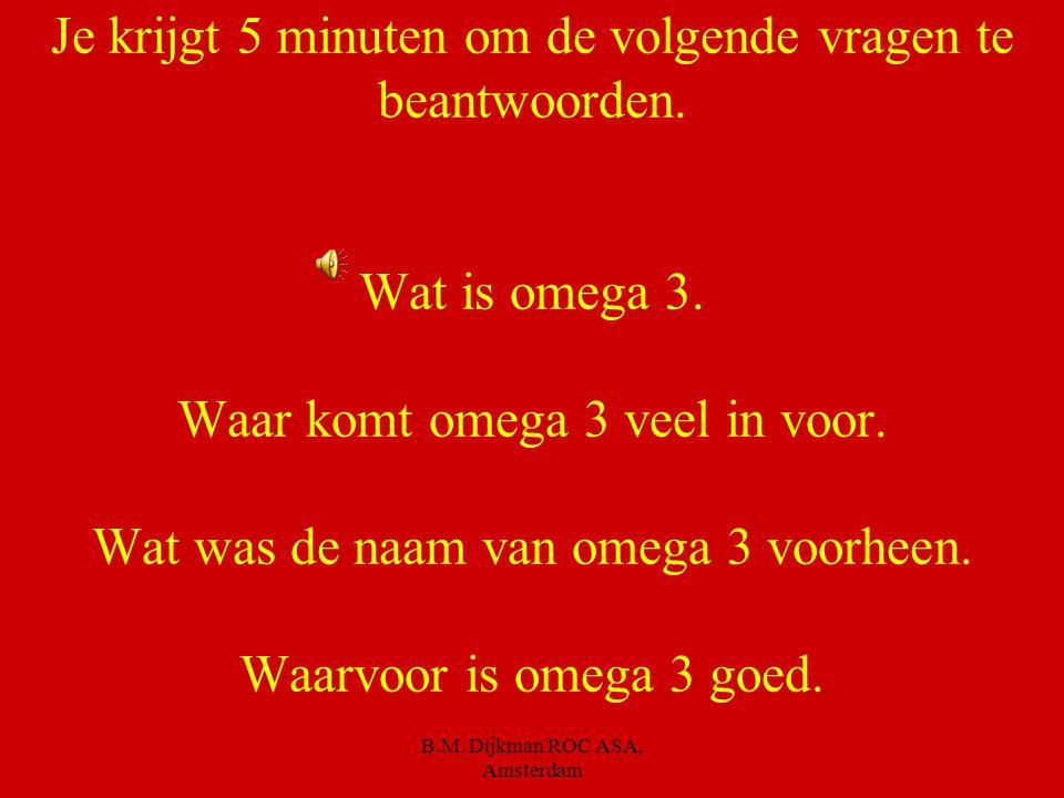 B.M. Dijkman ROC ASA, Amsterdam Geëmulgeerd vet Als vocht en water een emulsie vormen. B.v. in kaas, margarine, halvarine Als dit niet het geval is no