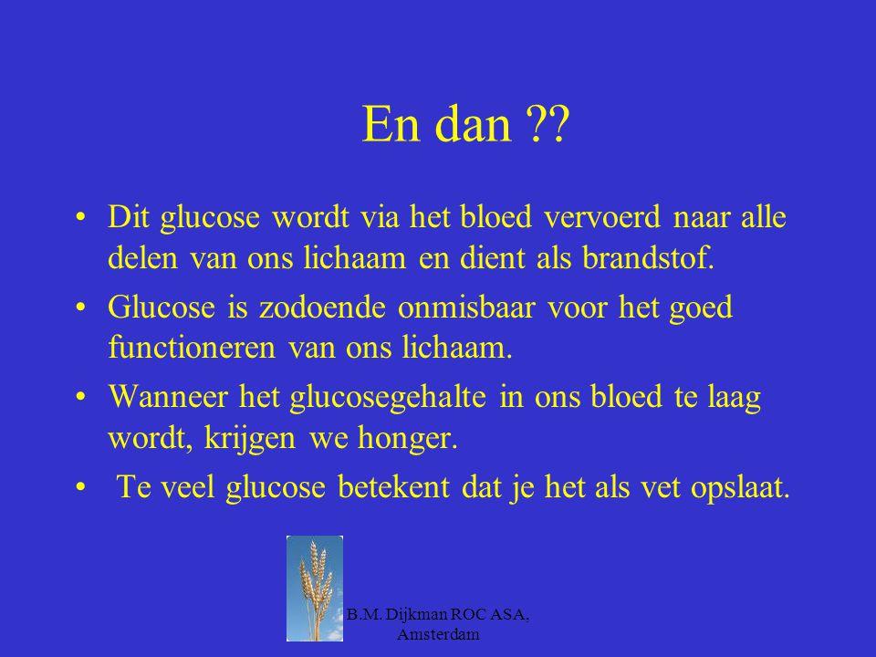 B.M. Dijkman ROC ASA, Amsterdam Wat zijn producten waar veel koolhydraten inzitten… Zoek eens 5 producten waar veel koolhydraten inzitten. Je krijgt h