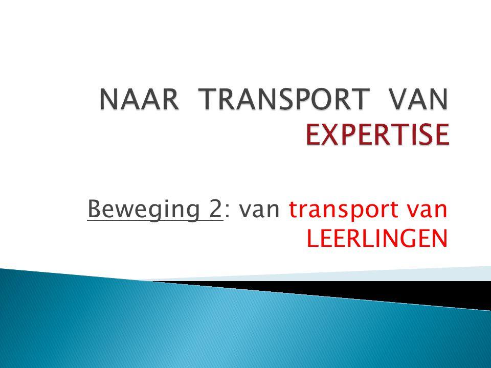 Beweging 2: van transport van LEERLINGEN