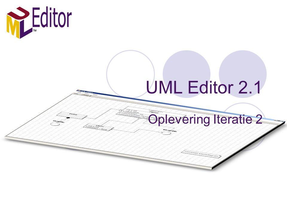 UML Editor 2.1 Oplevering Iteratie 2