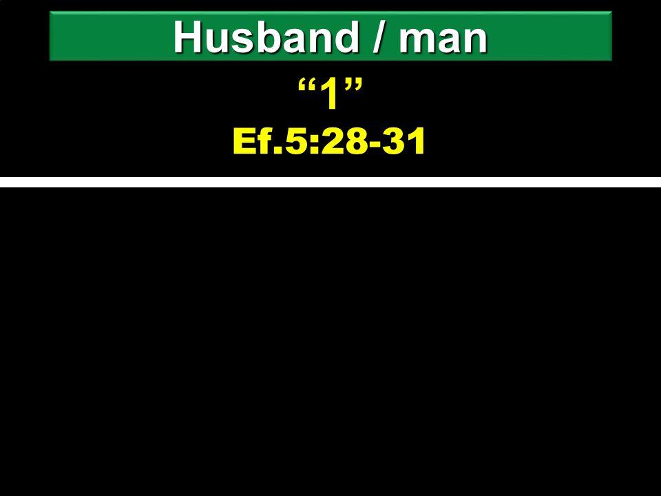 """1"" ""1"" Ef.5:28-31 Husband / man"