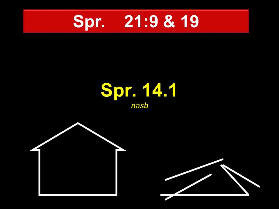 Spr. 14.1 nasb Spr. 21:9 & 19
