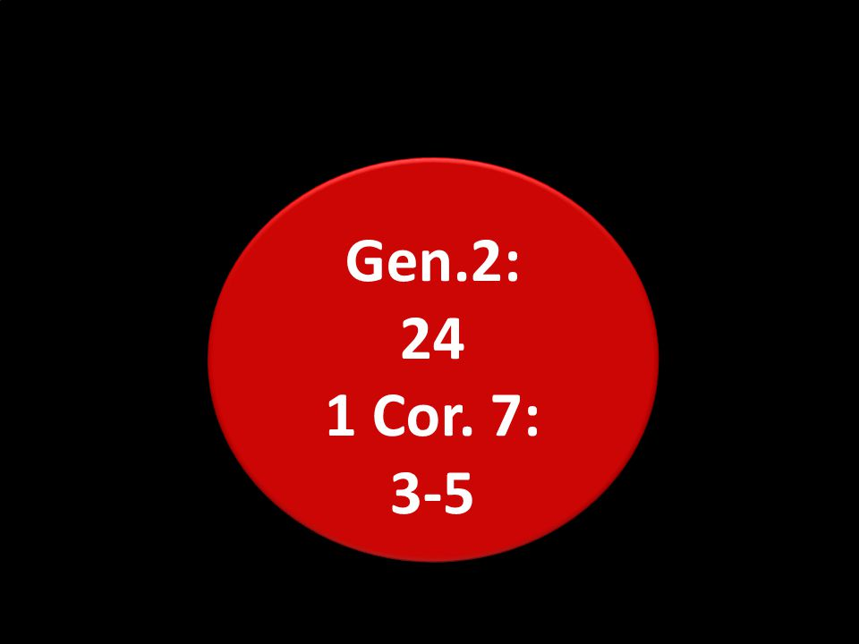 Gen.2: 24 1 Cor. 7: 3-5