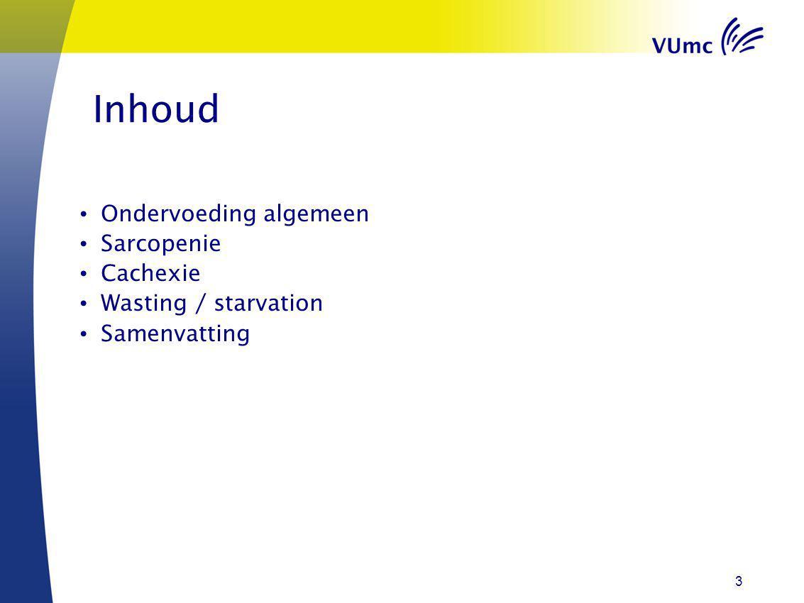 Wat is ondervoeding.