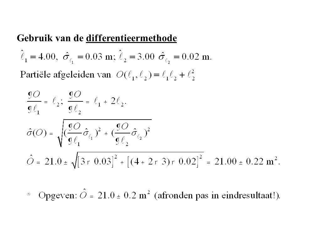Gebruik van de differentieermethode
