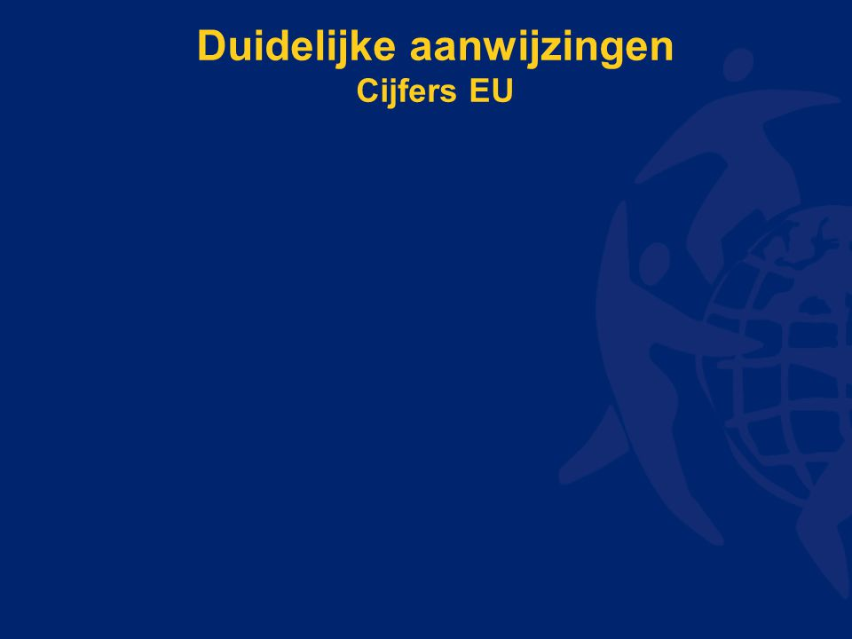 Duidelijke aanwijzingen Cijfers EU