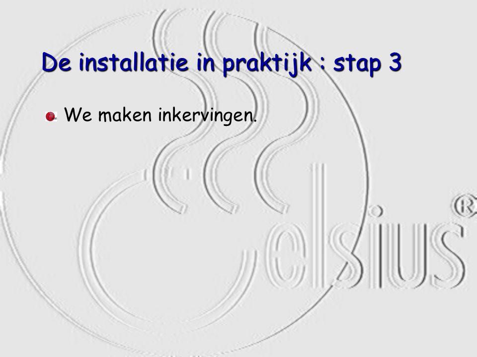 De installatie in praktijk : stap 3 We maken inkervingen.