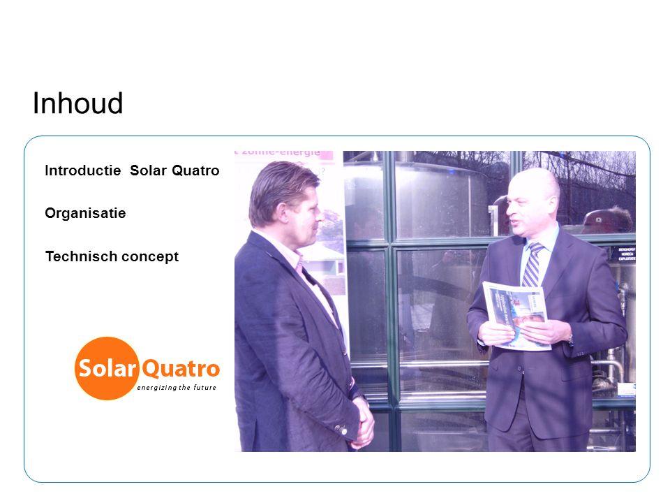 Inhoud Introductie Solar Quatro Organisatie Technisch concept