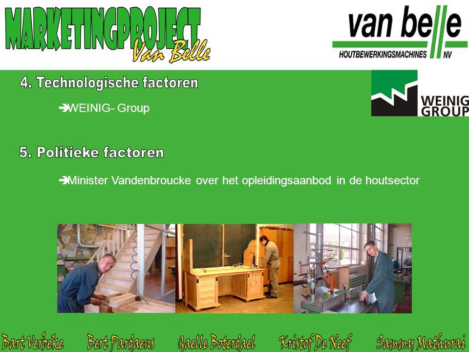  WEINIG- Group  Minister Vandenbroucke over het opleidingsaanbod in de houtsector