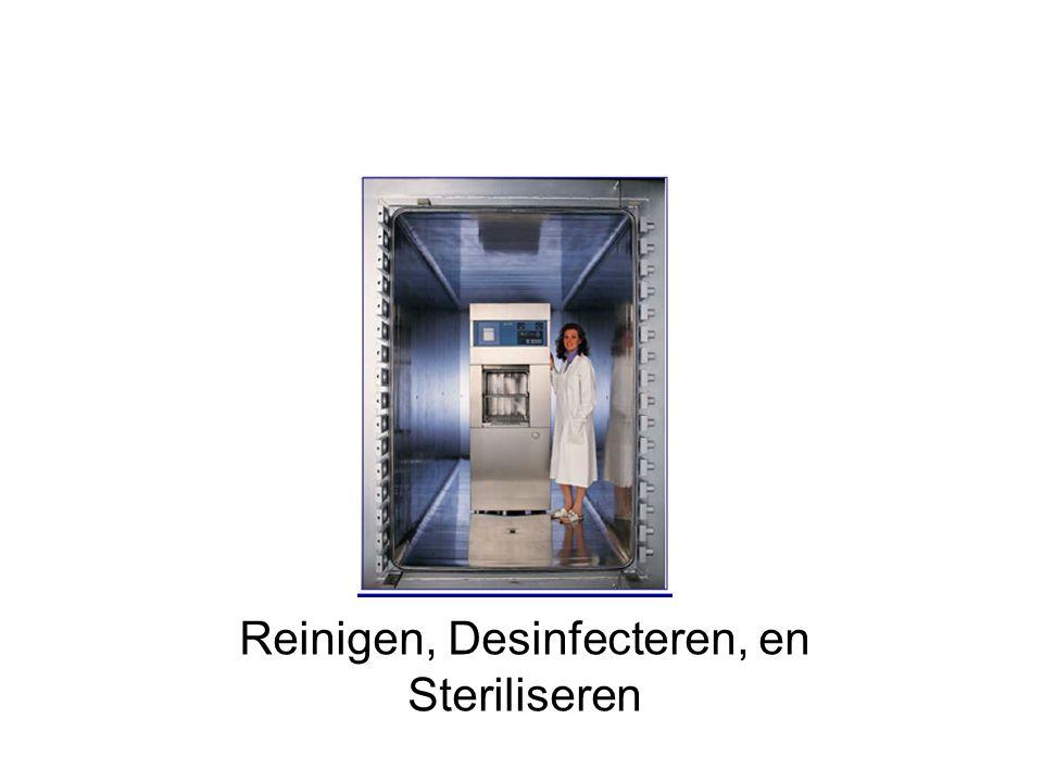 HET REINIGINGSPROCES Beladen van de wasmachine Hoofdreiniging Ontladen van de wasmachine Koude voorreiniging Thermische desinfectie Tussenspoeling/ Neutralisatie Afvoer van restvloeistoffen Drogen Start / Einde Alkalisch Enzymatisch Mild Alkalisch