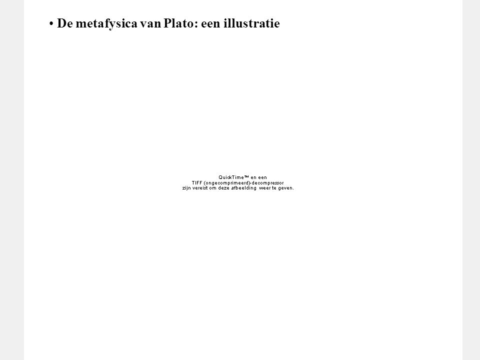 De metafysica van Plato: een illustratie