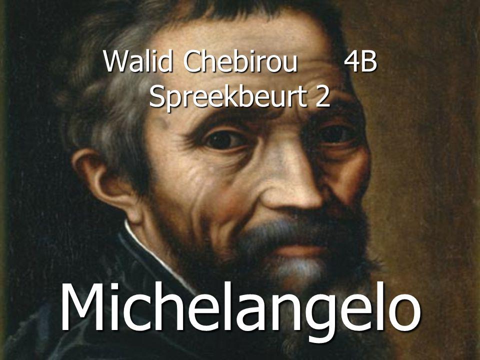 Walid Chebirou 4B Spreekbeurt 2 Michelangelo