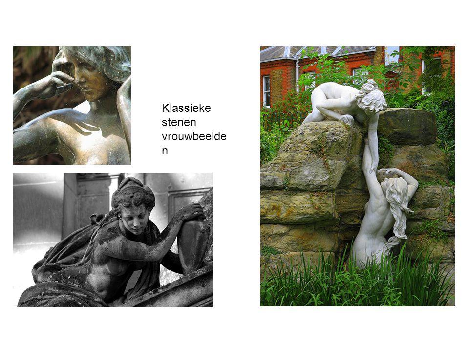 Klassieke stenen vrouwbeelde n
