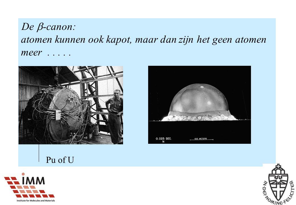 De  -canon: atomen kunnen ook kapot, maar dan zijn het geen atomen meer..... Pu of U