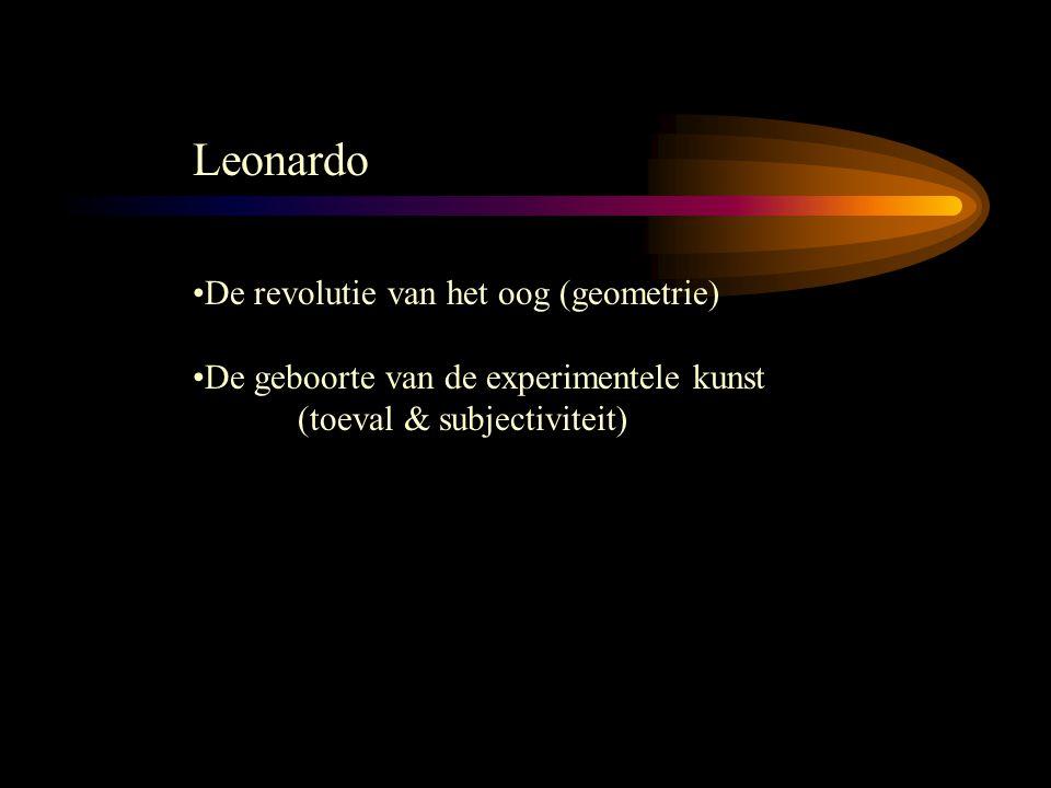 Leonardo De revolutie van het oog (geometrie) De geboorte van de experimentele kunst (toeval & subjectiviteit)