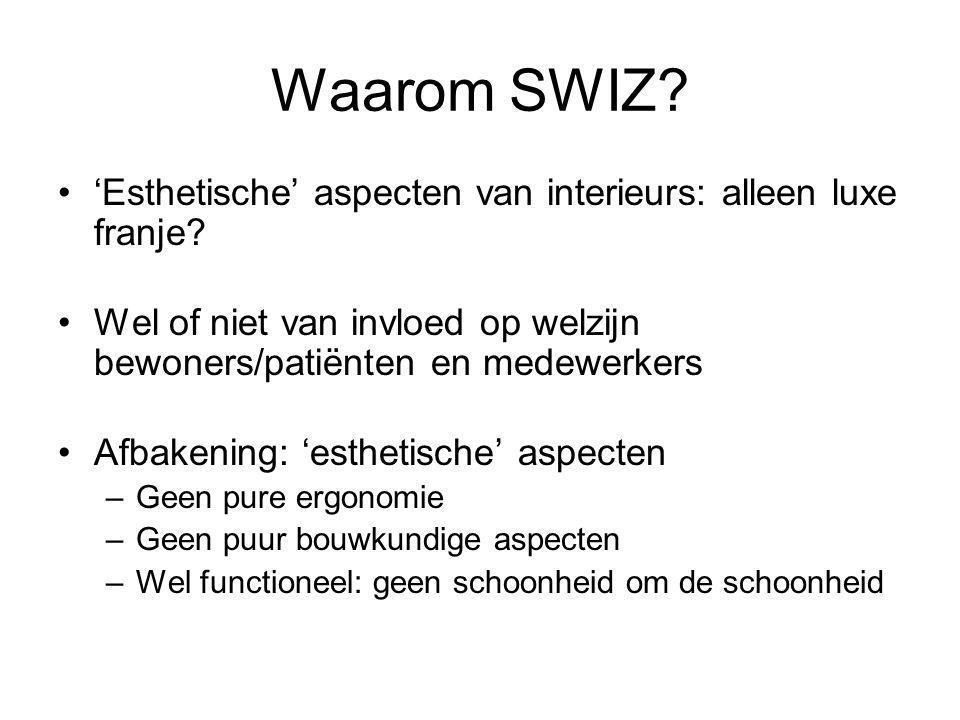 Waarom SWIZ. 'Esthetische' aspecten van interieurs: alleen luxe franje.