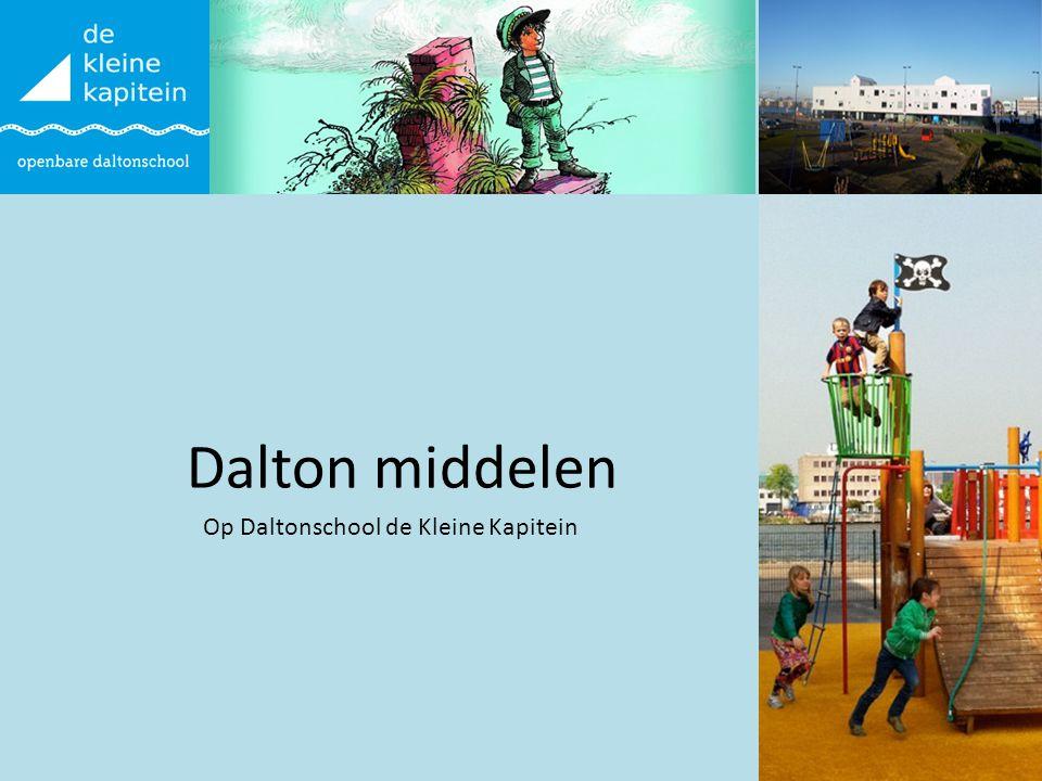 Dalton middelen Op Daltonschool de Kleine Kapitein