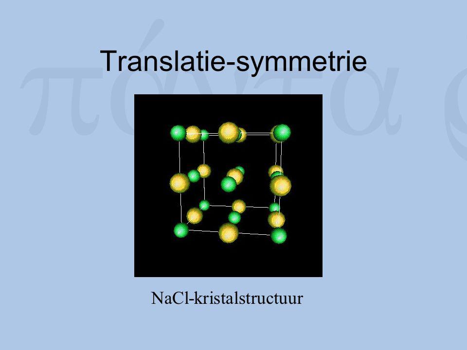 Translatie-symmetrie NaCl-kristalstructuur