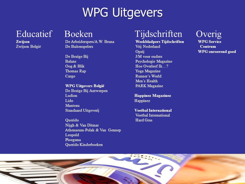 WPG Uitgevers Educatief Zwijsen Zwijsen België Boeken De Arbeiderspers/A.W. Bruna De Buitenspelers De Bezige Bij Balans Oog & Blik Thomas Rap Cargo WP