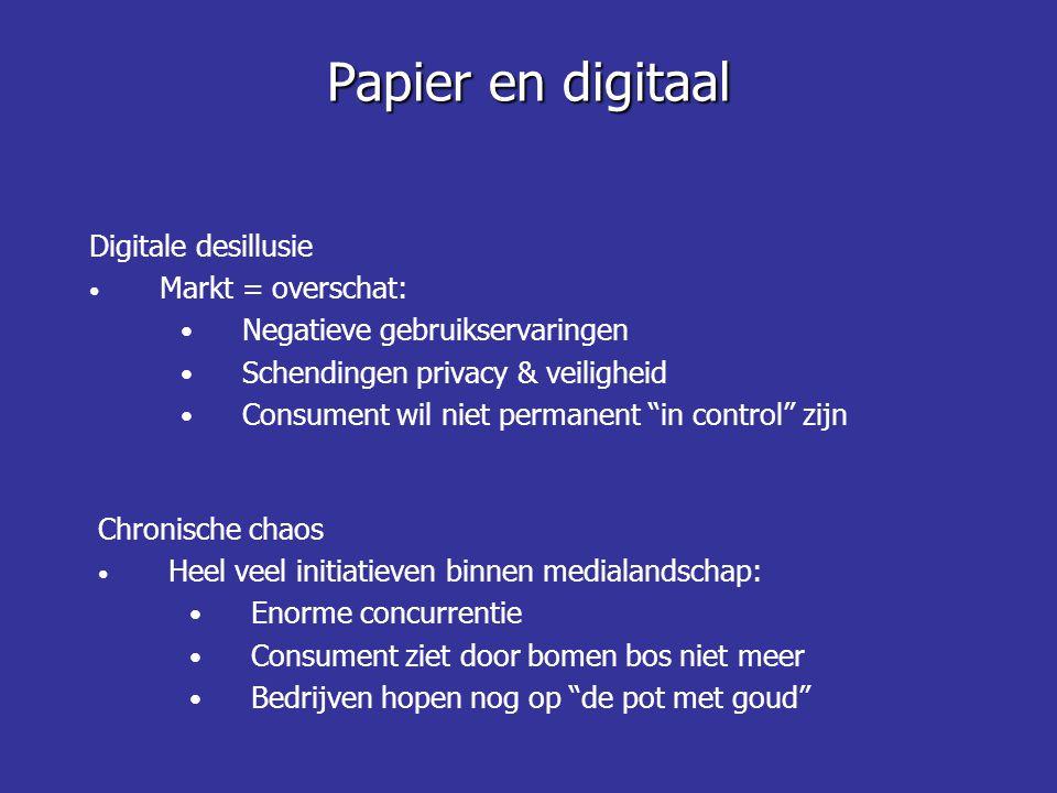 """Digitale desillusie Markt = overschat: Negatieve gebruikservaringen Schendingen privacy & veiligheid Consument wil niet permanent """"in control"""" zijn Pa"""