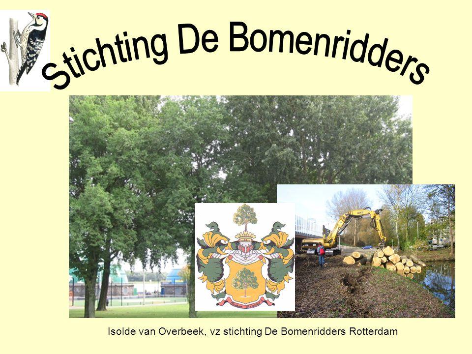 Isolde van Overbeek, vz stichting De Bomenridders Rotterdam