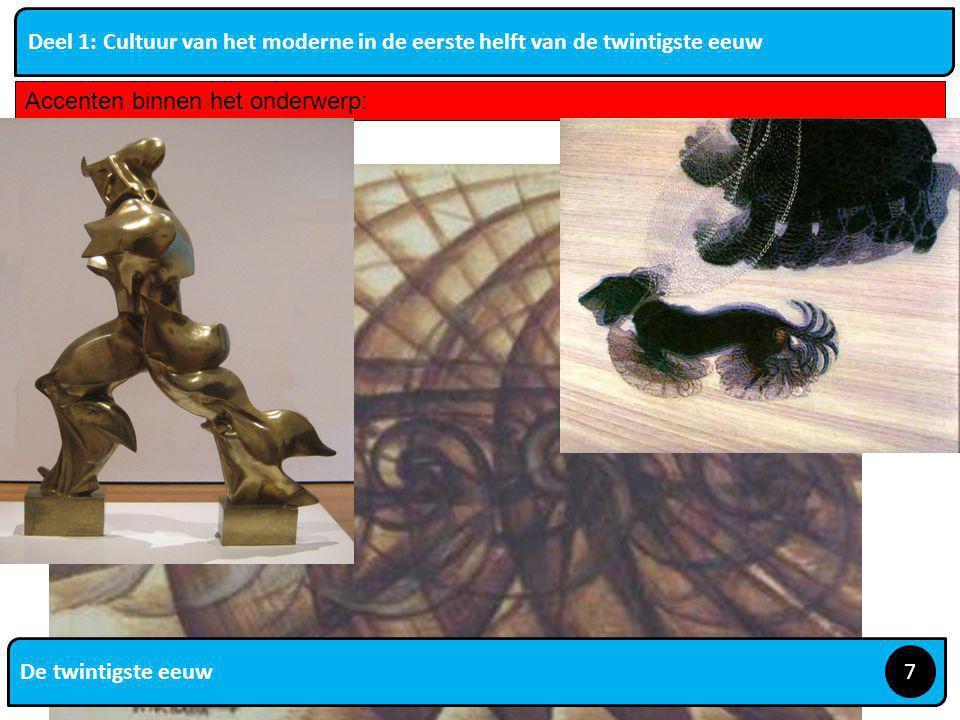 De twintigste eeuw 8 Deel 1: Cultuur van het moderne in de eerste helft van de twintigste eeuw Accenten binnen het onderwerp: Schönberg en expressionisme en seriële muziek; Strawinsky en antiromantische tendensen; Satie; Schonberg: atonale muziek, dissonanten http://www.youtube.com/watch?v=u5dOI2MtvbA http://www.youtube.com/watch?v=XCZfvwfG9cw Seriële muziek Door reeksen abstractie bereiken Simeon ten Holt http://www.youtube.com/watch?v=ppluA-_EkQMhttp://www.youtube.com/watch?v=ppluA-_EkQM Strawinsky Expressionistische muziek.