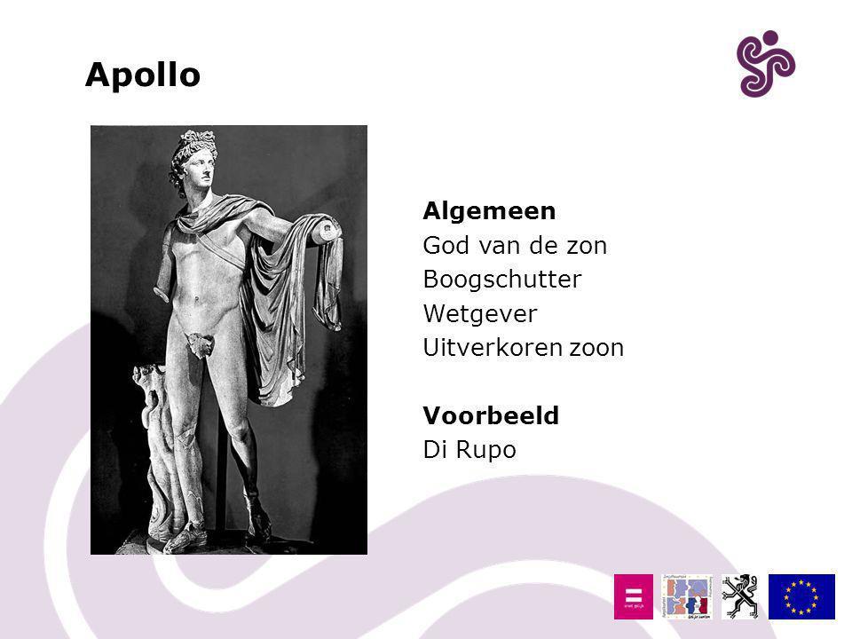 Apollo Algemeen God van de zon Boogschutter Wetgever Uitverkoren zoon Voorbeeld Di Rupo
