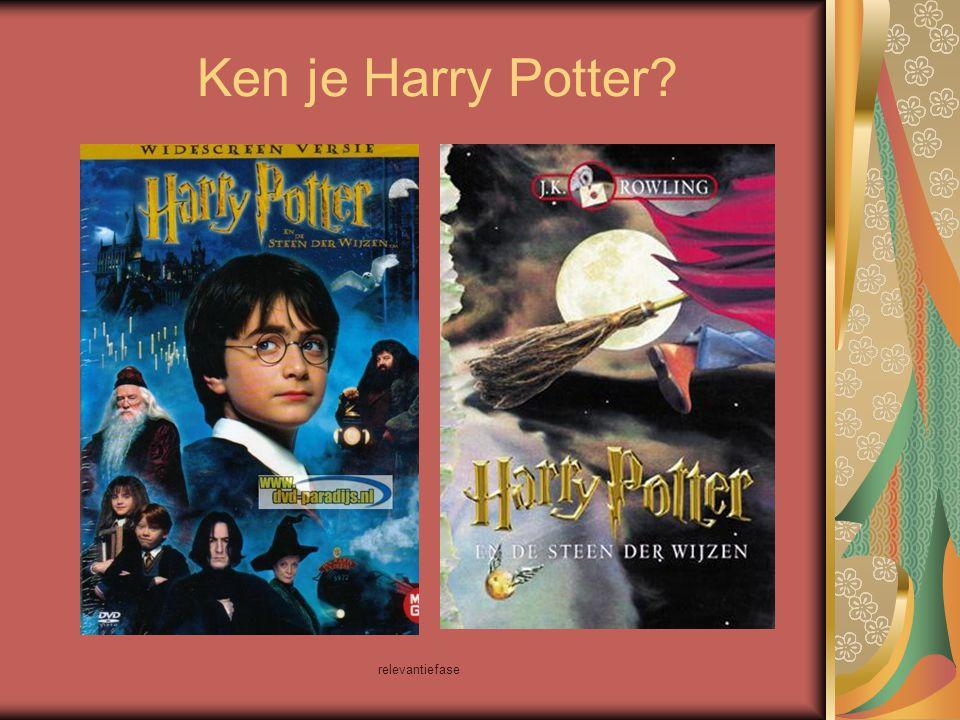 relevantiefase Er is een computerspel van Harry Potter.