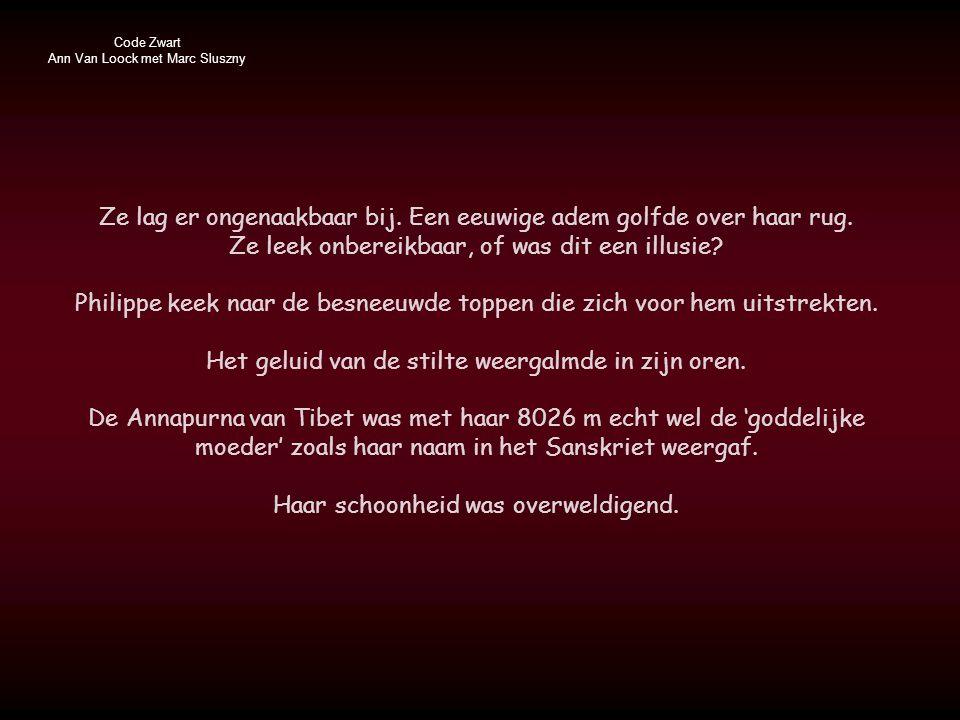 Code Zwart Ann Van Loock met Marc Sluszny Ze lag er ongenaakbaar bij.