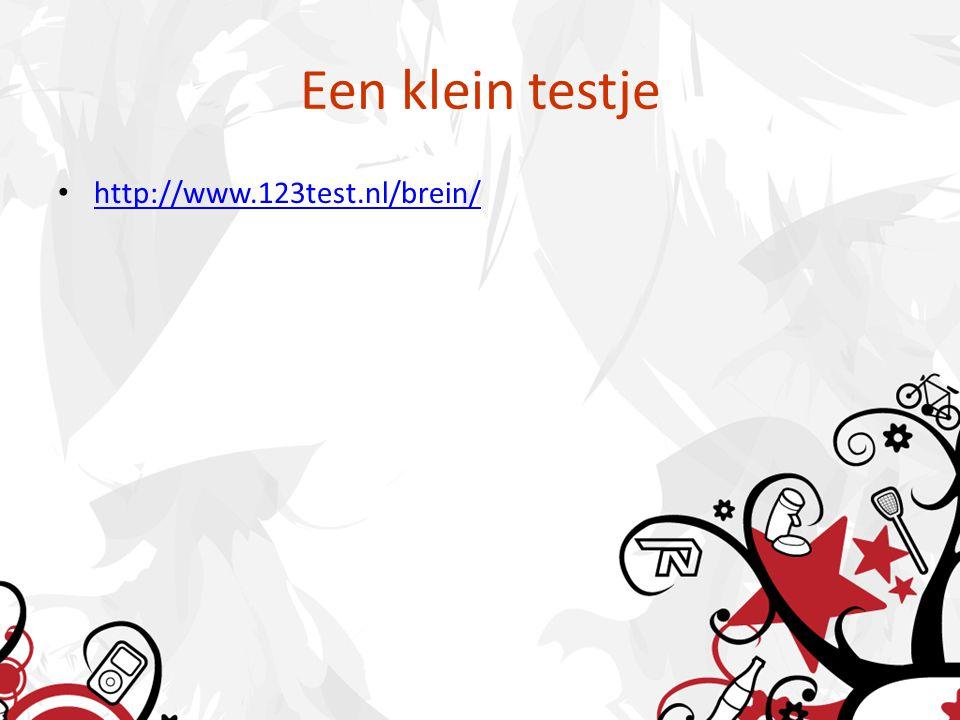 Een klein testje http://www.123test.nl/brein/