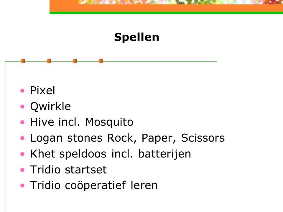 Spellen Pixel Qwirkle Hive incl. Mosquito Logan stones Rock, Paper, Scissors Khet speldoos incl. batterijen Tridio startset Tridio coöperatief leren