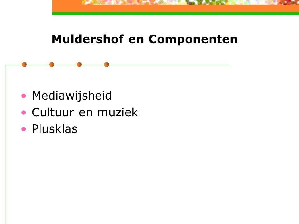 Muldershof en Componenten Mediawijsheid Cultuur en muziek Plusklas