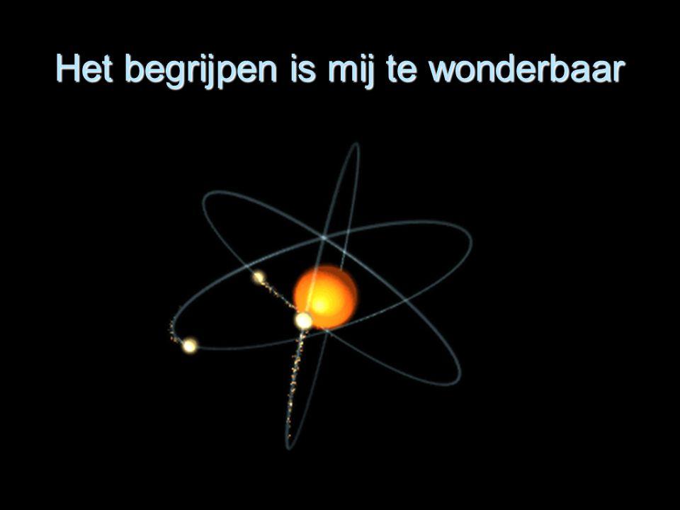 Het begrijpen is mij te wonderbaar