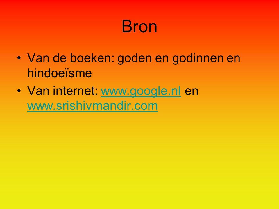 Bron Van de boeken: goden en godinnen en hindoeïsme Van internet: www.google.nl en www.srishivmandir.comwww.google.nl www.srishivmandir.com
