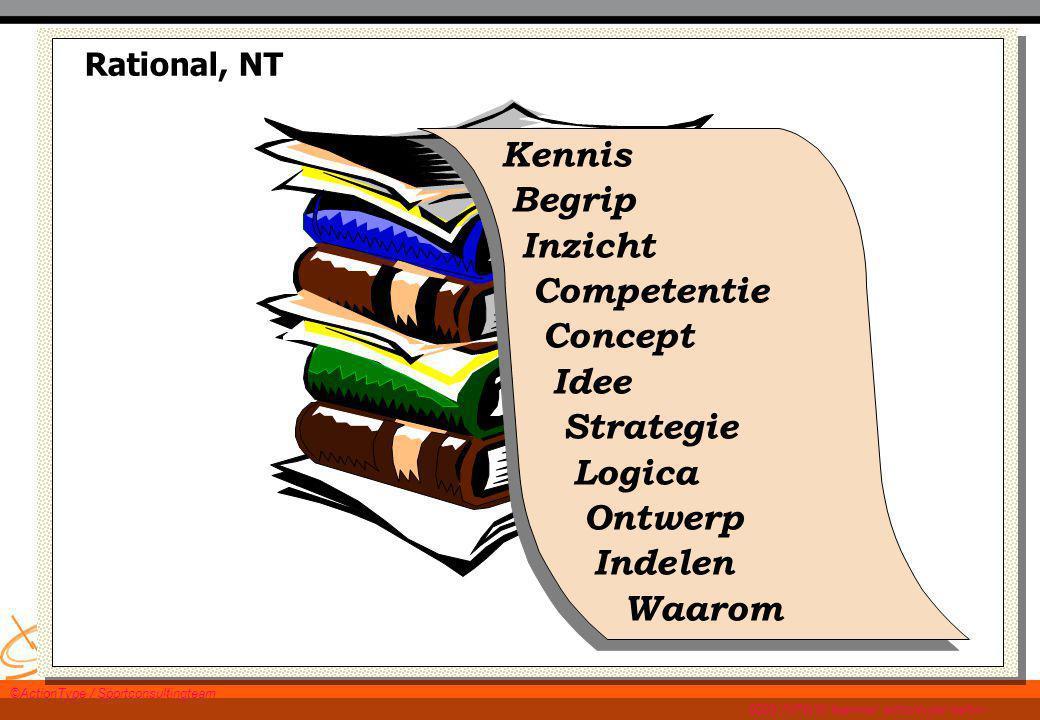 WWW.TWANPAES.NL Rational, NT Kennis Begrip Inzicht Competentie Concept Idee Strategie Logica Ontwerp Indelen Waarom ©ActionType / Sportconsultingteam