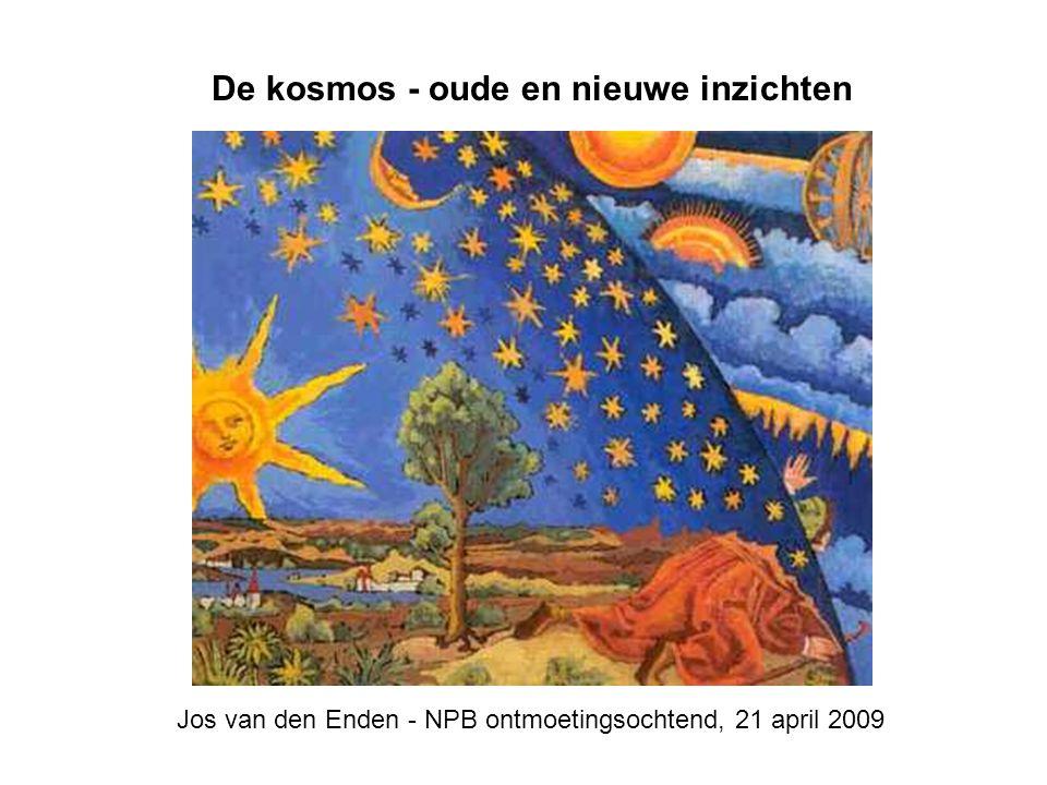 De kosmos - oude en nieuwe inzichten Jos van den Enden - NPB ontmoetingsochtend, 21 april 2009