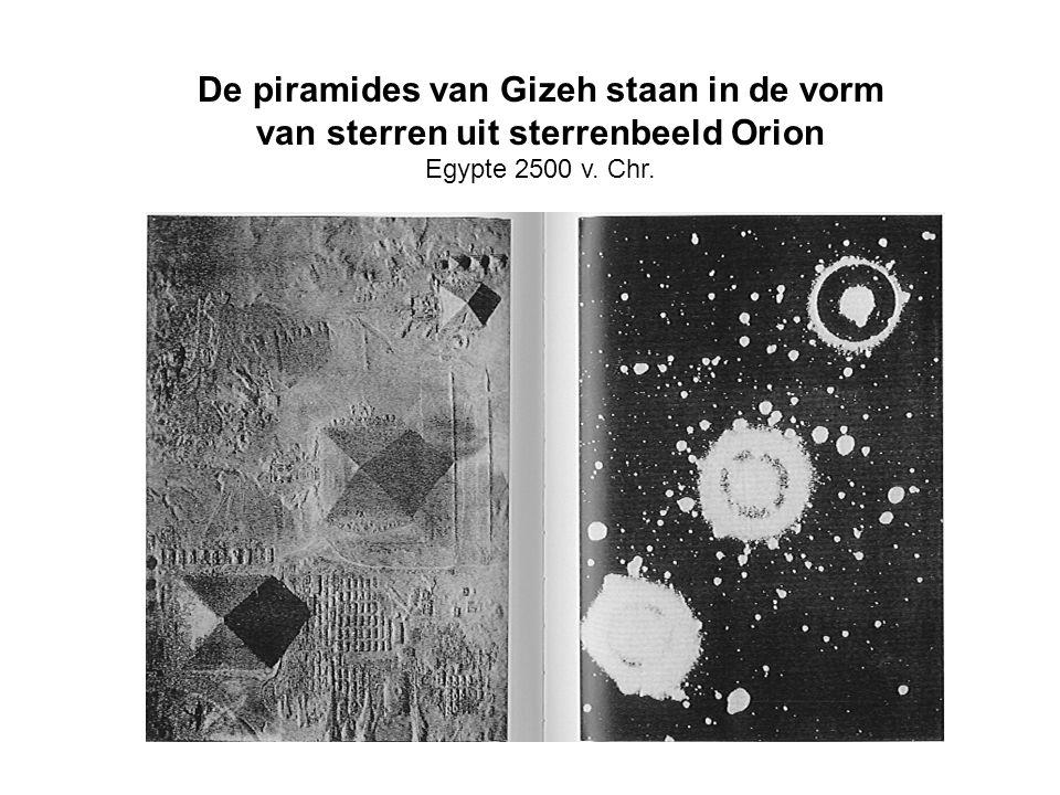 De piramides van Gizeh staan in de vorm van sterren uit sterrenbeeld Orion Egypte 2500 v. Chr.