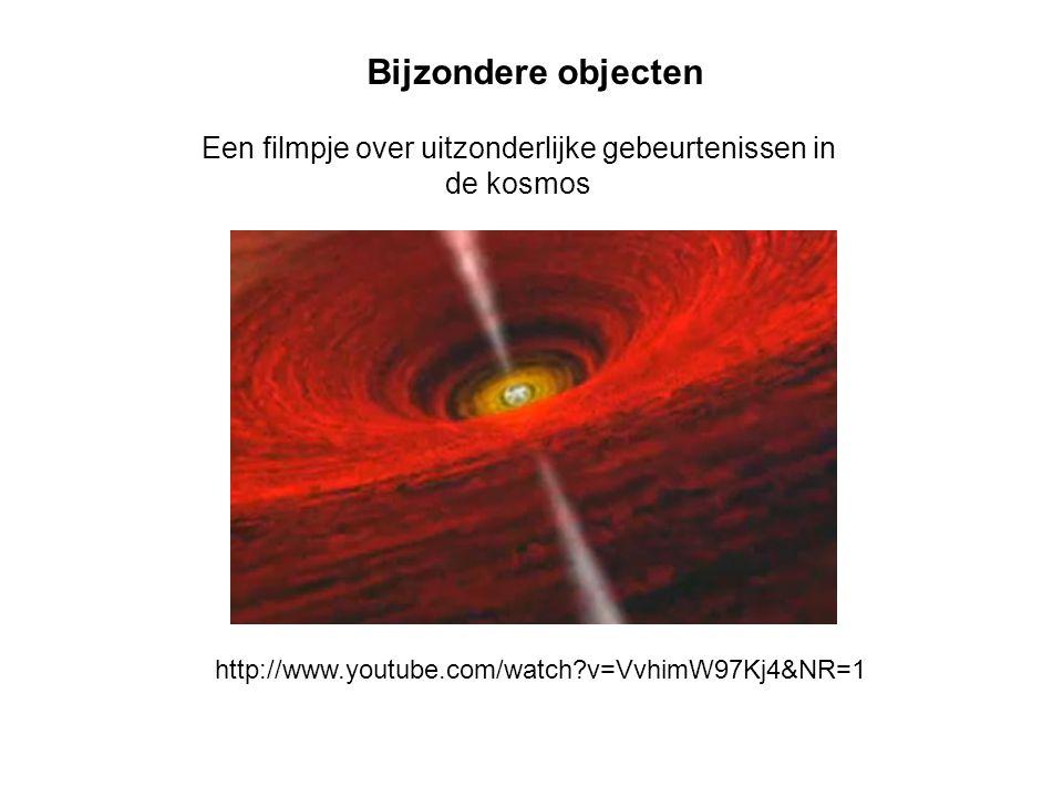 Een filmpje over uitzonderlijke gebeurtenissen in de kosmos Bijzondere objecten http://www.youtube.com/watch?v=VvhimW97Kj4&NR=1