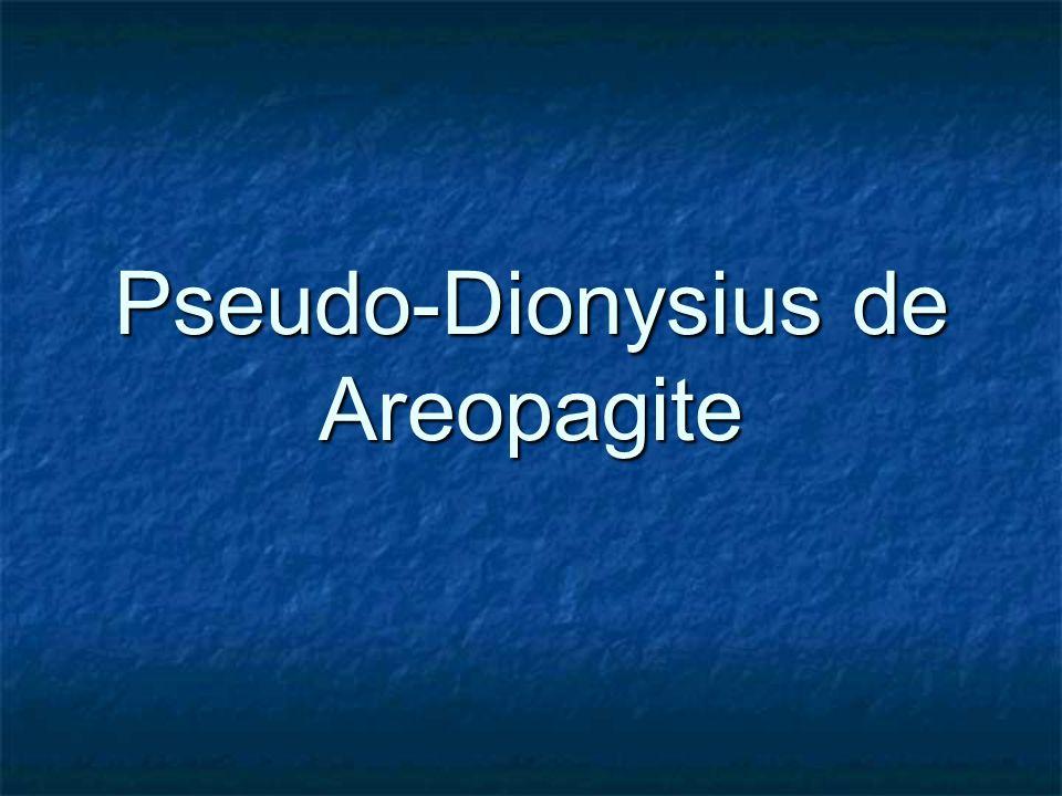 Pseudo-Dionysius de Areopagite